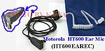 5x HT600EAREC Ear Mic for Motorola MT1000 P200 HT600 NMN6156B NEW