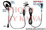 5x 6200EARLONGMC Headset Ear Mic PTT for Motorola FRS SX710 T7200