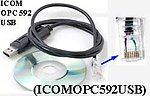 20X ICOMOPC592USB USB Programming Cable for Icom OPC-592 IC-F220 IC-F320