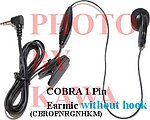 50x CBROPNRGNHKM 1 Pin Earbud NoHook Cobra Microtalk GMRS FRS Radios
