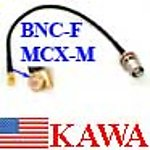 5X MFADP2NADN MCX-M to BNC-F Adapter