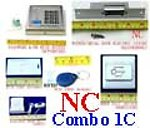 1X LCKOMBOPC Combo C RFID Door Lock & Bell & Switch & Door Strike NC