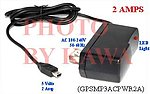 1x GPSMP3ACPWR2A TWO AMP (2A) AC power Charger Adapter for Garmin Nuvi 200 250 260 270