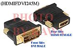 1x HDMIFDVI245M HDMI Female To DVI-I Male 24+5 DVI Adapter Converter