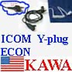 1X ICEARECON Econ Ear Mic for ICOM radio