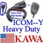 1X ICHNMNSPY  Heavy Duty Mini Speaker Mic for Icom Y