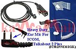 1X ICM2PNEMDXK Heavy Duty Headset Mic for ICOM, MAXON, COBRA, Motorola Talkabout 2 Pin