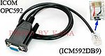 1X ICM592DB9 RS232 Programming Cable for Icom IC-F220 IC-F320 F420 OPC-592