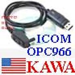5x ICOMOPC966USB USB Programming cable for OPC-966 Icom radio NEW