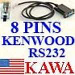 1X KWOOD8RS2 Kenwood prog cable RS232 for TKR-850