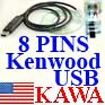 1X KWOOD8USB USB prog cable for Kenwood TKR-730