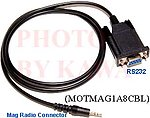 1x MOTMAG1A8CBL Radio Programming Cable for Motorola MAG ONE A8 BPR40