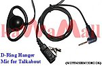 1X MOTT62ERMCDHOOK D Ring Ear Hanger Mic for Motorola Talkabout Series