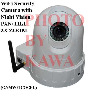 1X CAMWFICOCPL Motion Track Pan/Tilt/Zoom IP WiFi web security Camera with Recording Function