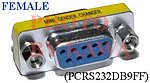 5x PCRS232DB9FF RS232 DB9 Female to Female Gender Changer Adapter F-F