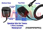 1X YSUSPKF6IPRG WaterProof Speaker Mic for VERTEX YAESU VX-160 VX-180