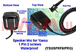 5X YSUSPKF6IPRG WaterProof Speaker Mic for VERTEX YAESU VX-160 VX-180