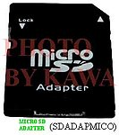 5x SDADAPMICO Micro SD to SD Memory Card Adapter Converter