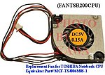 20x FANTSR200CPU FAN for TOSHIBA Portege R200 R205 Tecra M4 Series
