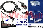 20X MOTT62EMDXK Heavy Duty Headset Mic for Motorola Talkabout 1 Pin Radio
