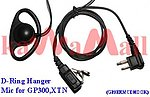 1X GP3ERMCDHOOK D Ring Ear Hanger Mic for Motorola GP300 XTN P110 CP200