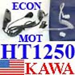 5X HT1250ECONEM HT1250 Ear Mic ECON Transparent Tube