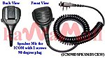 1X ICM90DSPKSMBSCRW Med Industrial Duty Speaker Mic for ICOM IC-F5 2 Screws