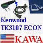 5X KWEARECON Econ ear mic for Kenwood TK3107