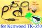1X KSVET3CBL Three-Wire Coil Tube Mic Kenwood TK-350
