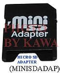1x MINISDADAP Mini SD to SD Memory Card Adapter Converter