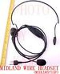 1X MIDLDHSWIRE Wire Headset Ear Mic for Midland LXT GXT GMRS FRS Radio