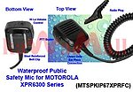 1X MTSPKIP67XPRFC WaterProof Speaker Mic for Motorola MOTOTRBO XPR-6300
