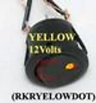 1x RKRYELOWDOT Yellow Dot 12V Rocker Switch