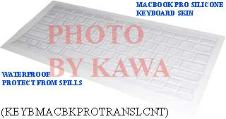 20x KEYBMACBKPROTRANSLCNT Keyboard Silicone Skin Cover 15 17 MacBook PRO Clear