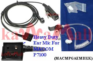 100X MACMPGAEMDXK Heavy Duty Ear Mic for MACOM JAGUAR 700 P5100 P7100