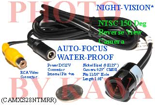 20X CAMXS28NTMRR Wide 150dg View Night Vision XS Car Reverse NTSC Camera