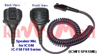 5X ICMFESPKSMB Heavy Duty Speaker Mic for ICOM IC-F50/60 IC-M87