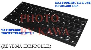 20x KEYBMACBKPROBLK Keyboard Silicone Skin Cover 15 17 MacBook PRO Black