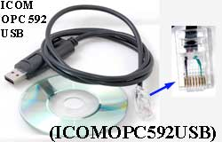 1X ICOMOPC592USB USB Programming Cable for Icom OPC-592 IC-F220 IC-F320