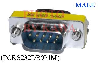 1x PCRS232DB9MM RS232 DB9 PC Male to Male Gender Changer Adapter M-M