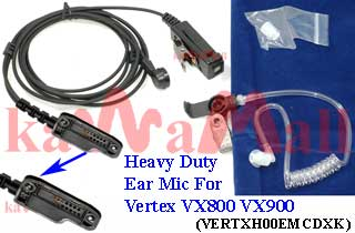 20X VERTXH00EMCDXK Heavy Duty Surveillance Acoustic Mic for Yaesu Vertex VX-800 VX-900 VX-600 Radio