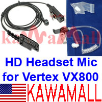 5X VERTXH00EMCDXK Heavy Duty Surveillance Acoustic Mic for Yaesu Vertex VX-800 VX-900 VX-600 Radio